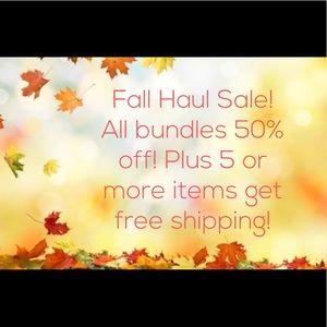 Fall Haul! 50% off bundles,5+ items ship free🍁🍂